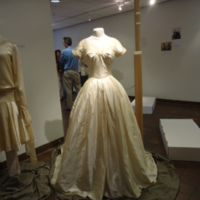 Scale View of Wedding Dress of Mary Lee Hartzell