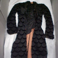 Front View of Jacket with Scallop Pattern