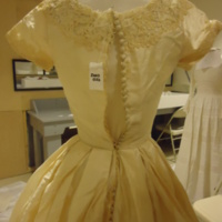 Condition View of Wedding Dress of Mary Lee Hartzell
