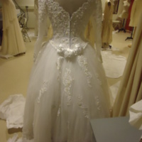 Back View of Wedding Dress of Willa McCarthy