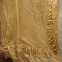 Detail of Ivory Satin Gown with Train