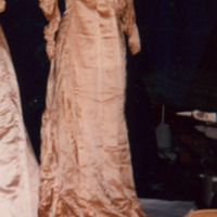 Front View of Ivory Satin Gown with Train