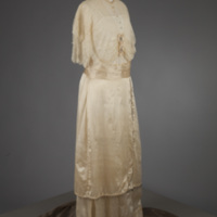 Front View of 1910s Wedding Dress of Beulah May Christ Hummel
