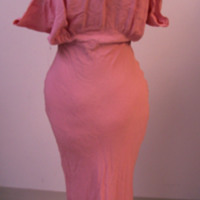 Front View of Pink Dress and Bolero