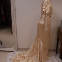 Side View of Wedding Dress of Ken Robinson's Mother