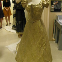 Front View of Evening Dress with One Shoe