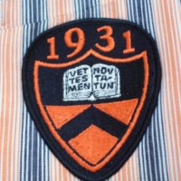 Detail View of Princeton Striped Jacket with Badge