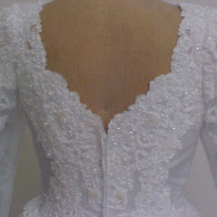 Detail View of Wedding Dress of Willa McCarthy