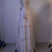 Side View of 1980's Wedding Dress