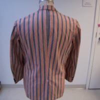 Back View of Princeton Striped Jacket with Badge