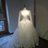 Scale View of Wedding Dress of Willa McCarthy