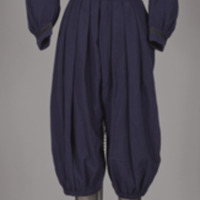 Rotating View of Navy Blue Wool Gym Suit