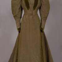 Rotating View of Green Changeant Dress