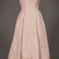 Rotating View of Pink 1950's Formal Dress